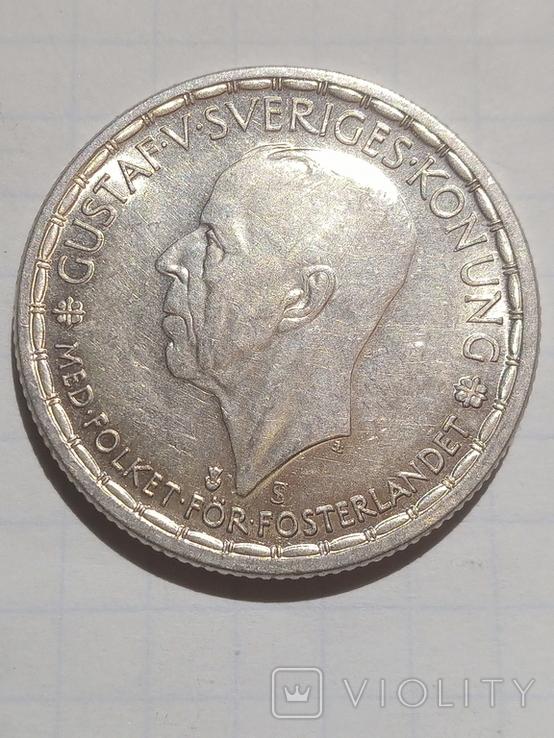 2 крони 1950 Швеція срібло, фото №4