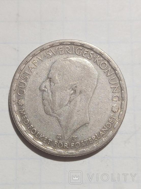 1 крона 1948 Швеція срібло, фото №3