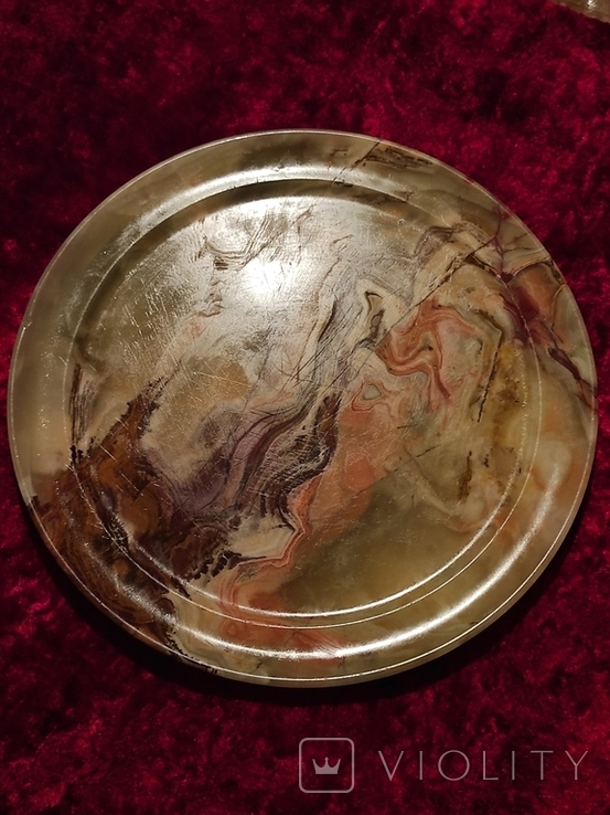 Блюдо тарелка из оникса 25 см., фото №2