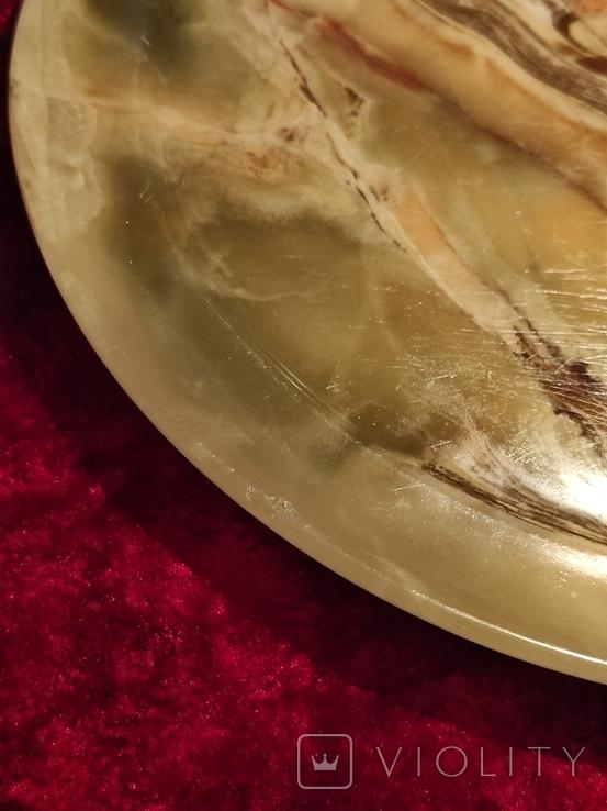 Блюдо тарелка из оникса 25 см., фото №8