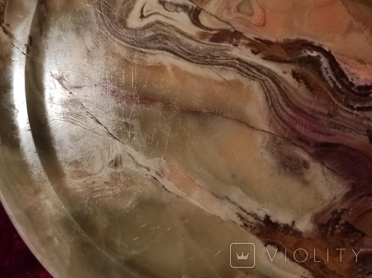 Блюдо тарелка из оникса 25 см., фото №9