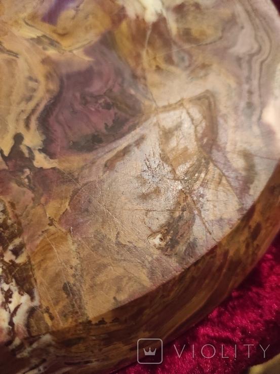 Блюдо тарелка из оникса 25 см., фото №11