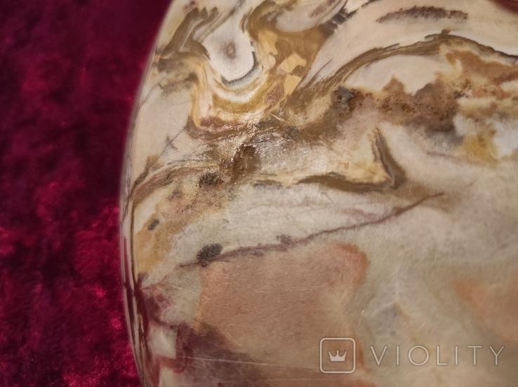 Блюдо тарелка из оникса 25 см., фото №12