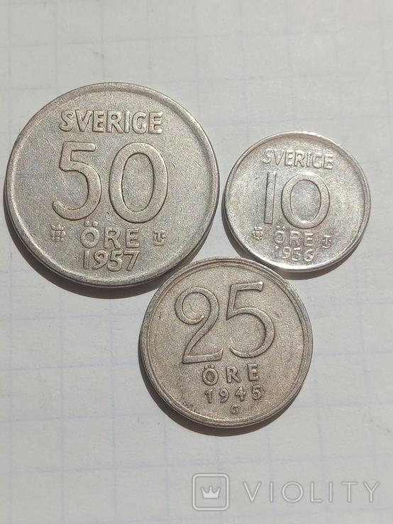 Монети Швеції срібло, фото №4