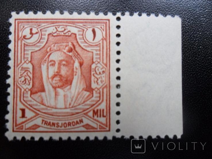 Британские колонии. Трансиордания. 1930 г. Эмир.  MLH, фото №2