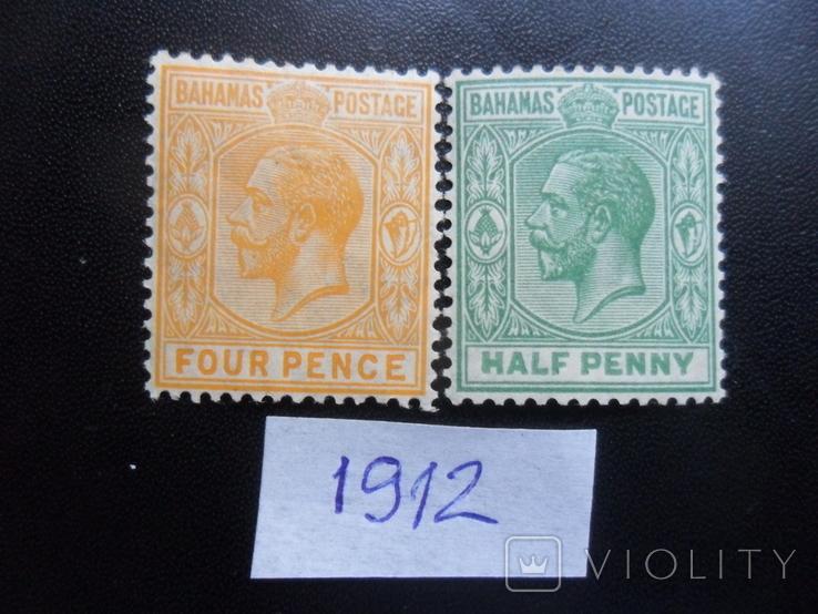 Британские колонии. Багамские острова. 1912 г.  МLН, фото №2