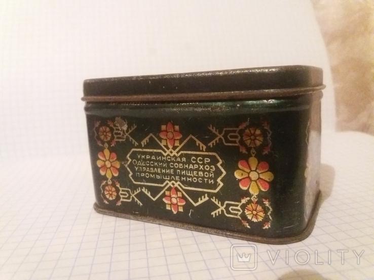 Коробочка жестяная из под чая. СССР, фото №2