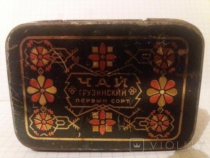 Коробочка жестяная из под чая. СССР, фото №7