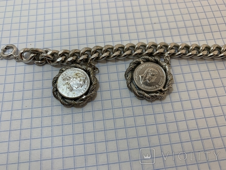 Браслет металлический с монетками, фото №5