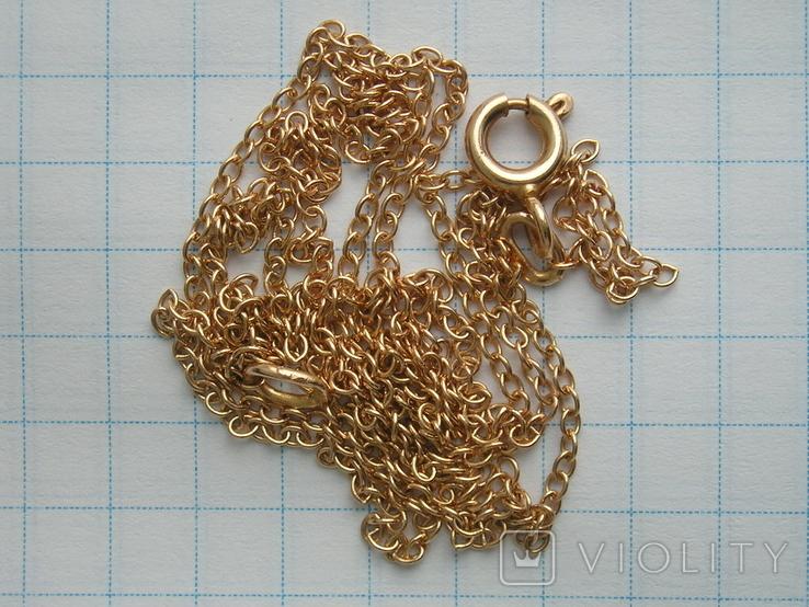 Золотой кулон с цепочкой 583 проба 5.1 гр. СССР, фото №6