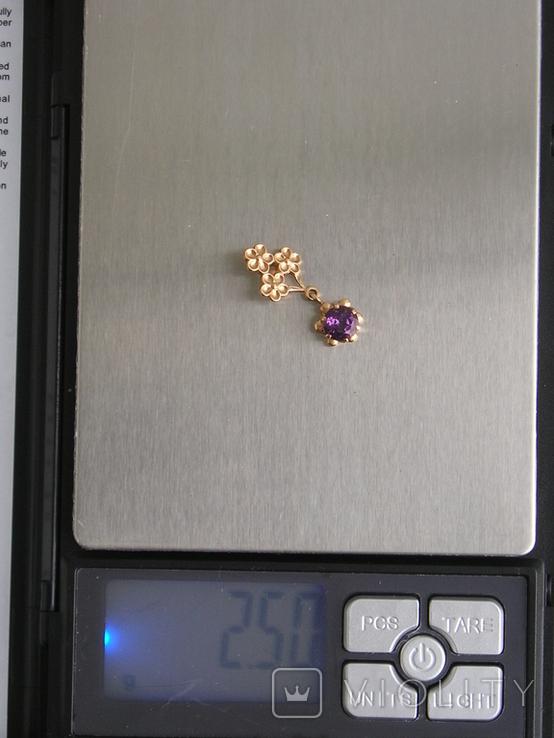 Золотой кулон с цепочкой 583 проба 5.1 гр. СССР, фото №12
