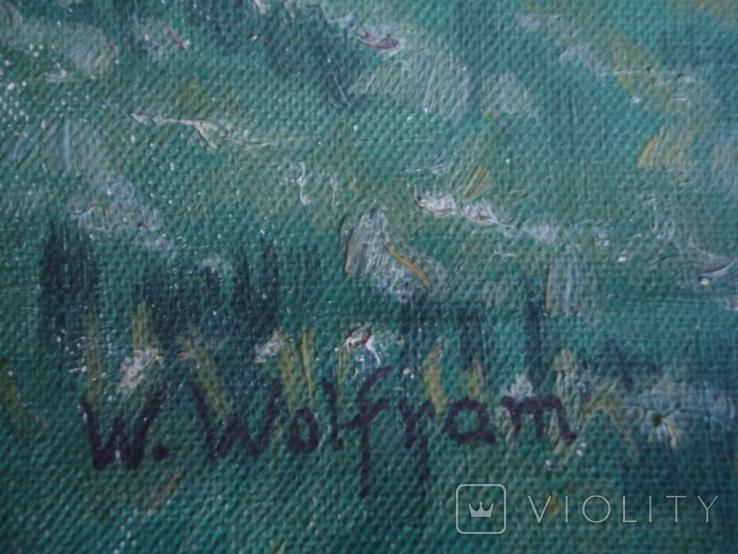 Картина на холсте без подрамника худ.W.Wolfram 50/35см., фото №6