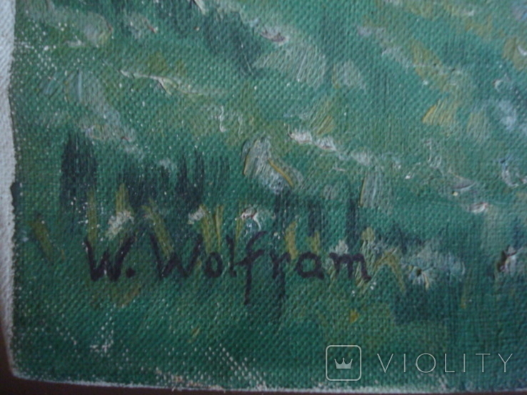 Картина на холсте без подрамника худ.W.Wolfram 50/35см., фото №7