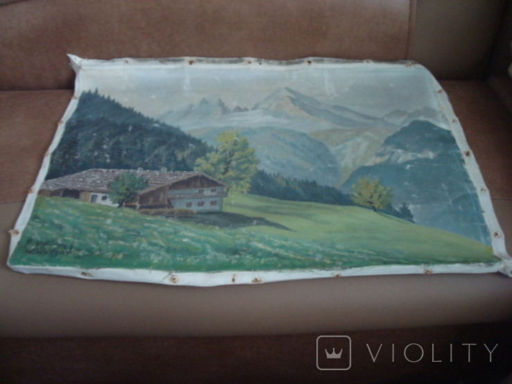 Картина на холсте без подрамника худ.W.Wolfram 50/35см., фото №11