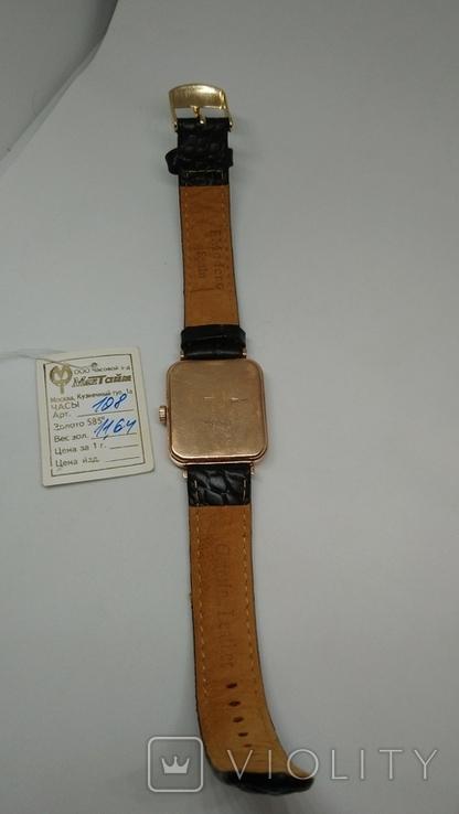 Золотые мужские часы Мактайм 585 проба, фото №3