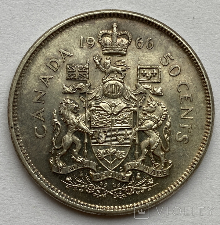 Канада 50 центов 1966  Серебро, фото №3
