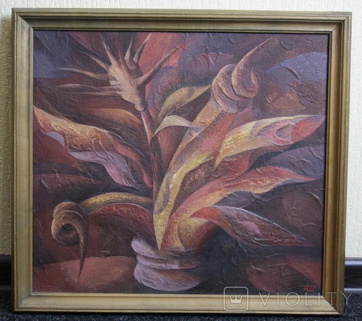 Картина абстракция  Шевченко А. С.  1992, фото №4