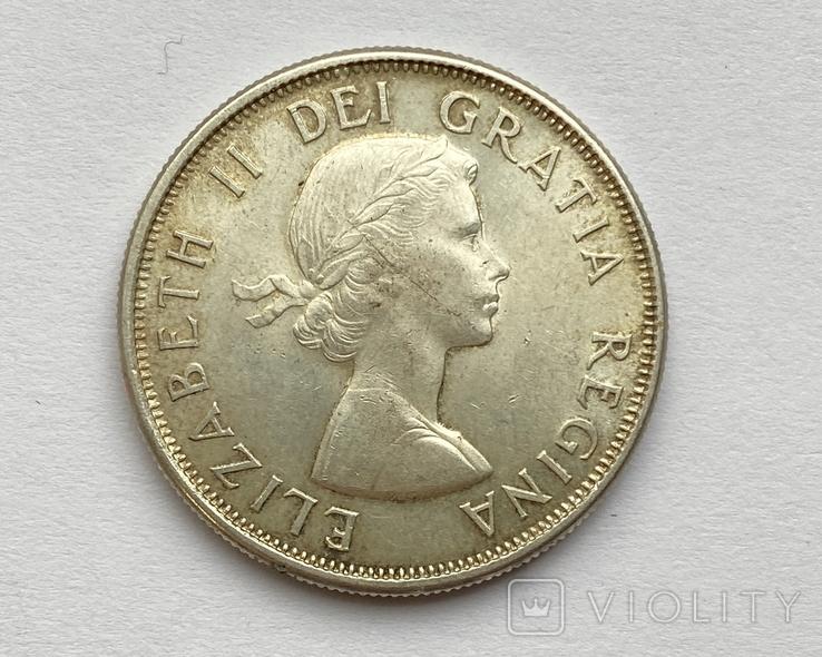Канада 50 центов 1963 года Серебро, фото №3