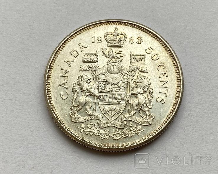 Канада 50 центов 1963 года Серебро, фото №4