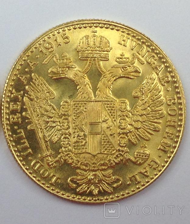 1 дукат 1915г. золото, Австро-Венгрия, фото №3