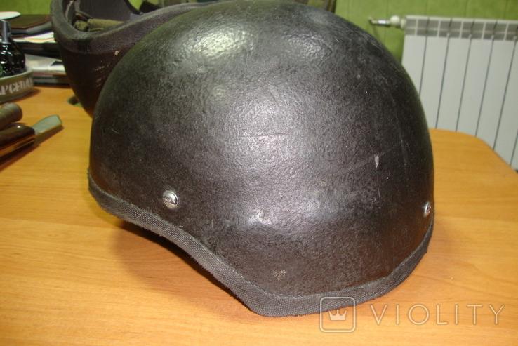 Чёрная кевларовая каска, фото №2