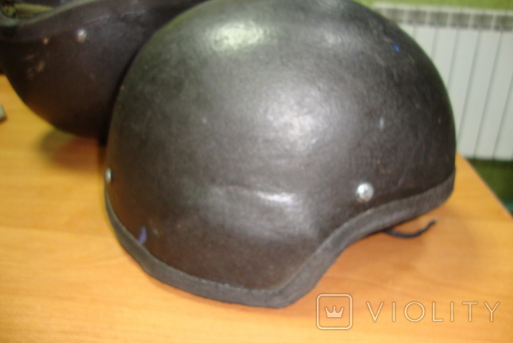 Чёрная кевларовая каска, фото №4