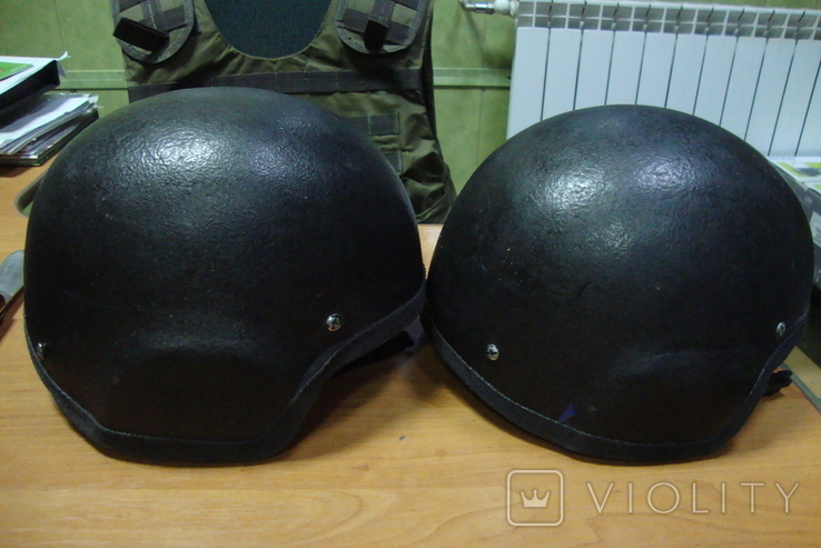Чёрная кевларовая каска, фото №9
