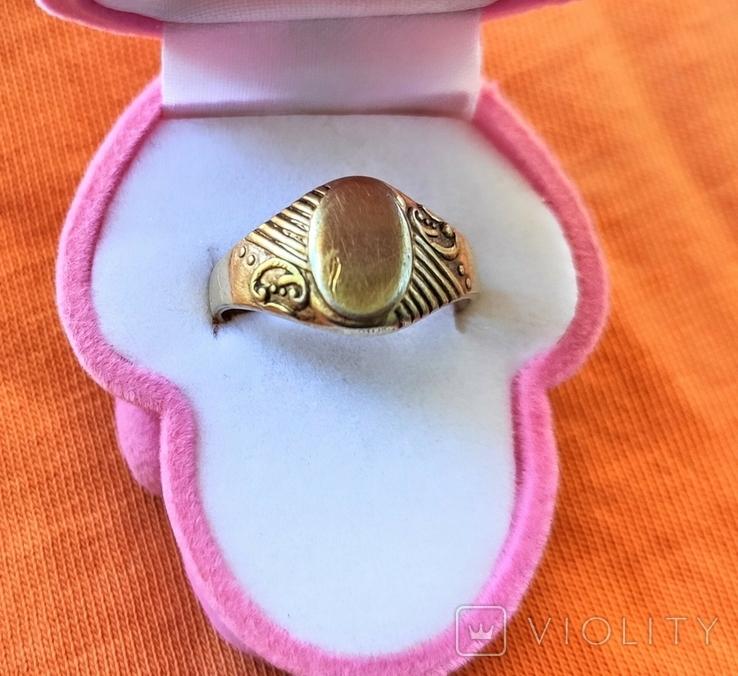 Женское кольцо. Серебро. 875 проба, фото №2
