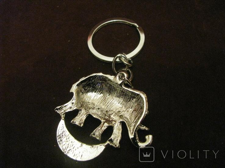 Брелок - Слон - металл,стразы., фото №7