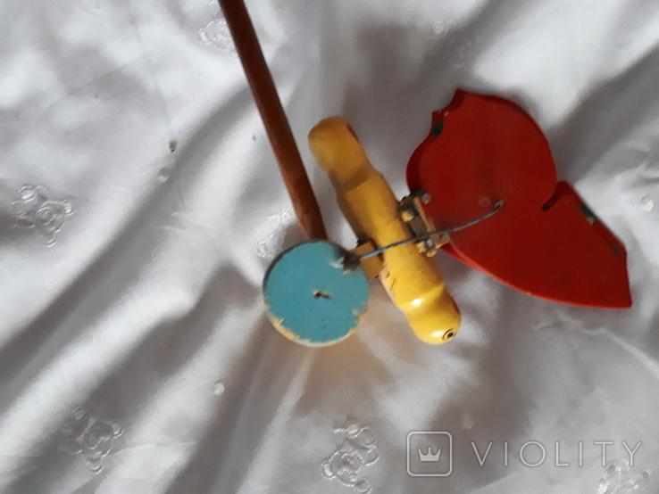 Старая игрушка Бабочка каталка, фото №5