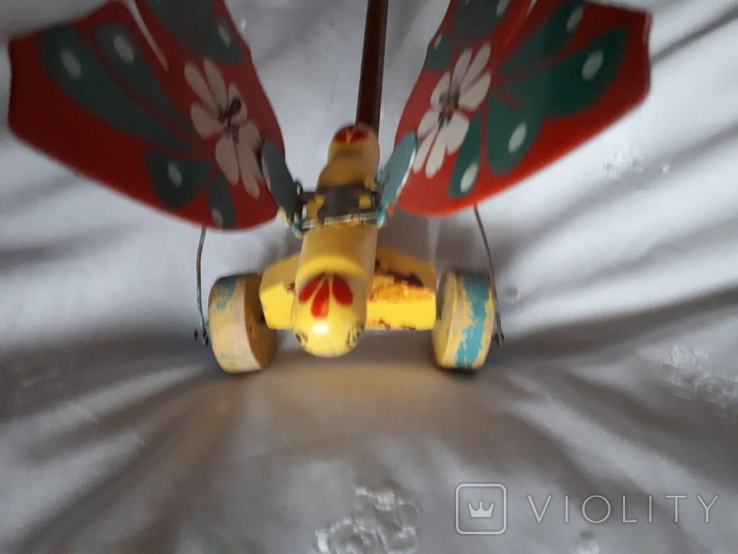 Старая игрушка Бабочка каталка, фото №6