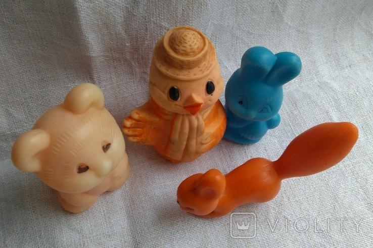 Советские игрушки Львенок, Зайчик, Сова, Белочка, фото №3