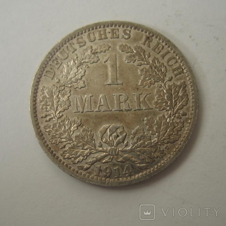 Германия 1 марка 1914 года.А, фото №5