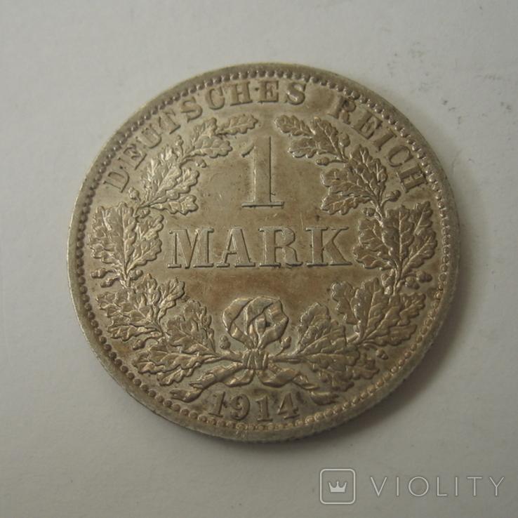 Германия 1 марка 1914 года.А, фото №7