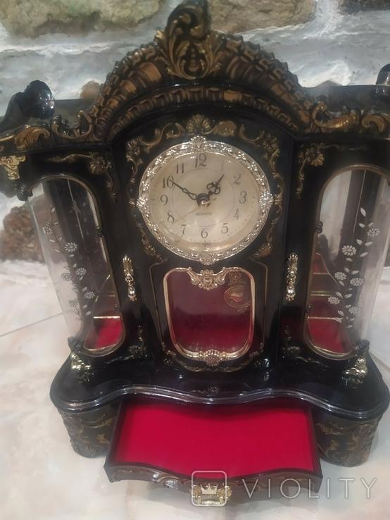 Часы музыкальная шкатулка для украшений интерьерные, фото №3