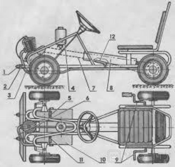 Карт веломобиль педальная машинка СССР, фото №8