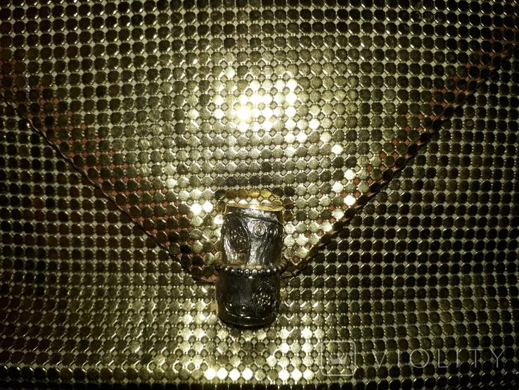 Сумочка Кольчужка. Золотистая винтаж., фото №2