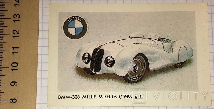 Календарик реклама BMW 328 Mille Miglia / авто, Рига, 1987, фото №2