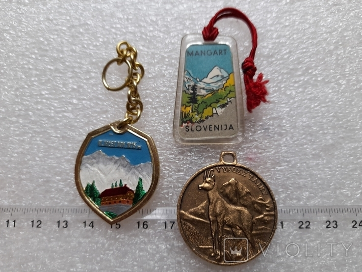Альпинизм. Горы. Словения и Словакия.3 брелка., фото №2