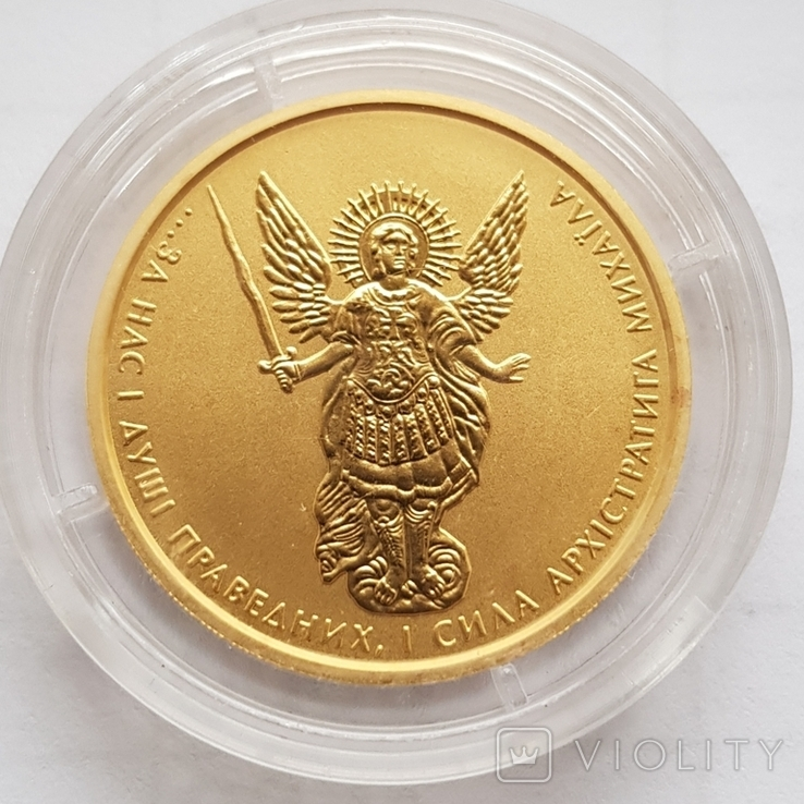 10 гривен 2015г., Архистратиг, золото 15,55 грамм 999,9', фото №2