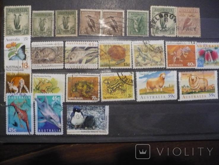 Австралия,животные,24 марки,гашеные