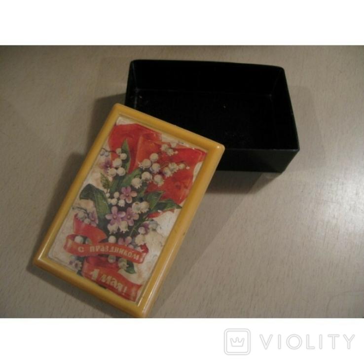 Шкатулка пластиковая С открыткой С праздником 1мая, фото №2