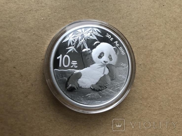 Панда Китай 10 юаней 2020 серебро 999 пробы, фото №5