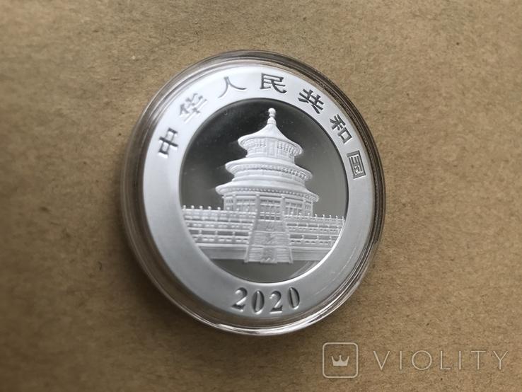 Панда Китай 10 юаней 2020 серебро 999 пробы, фото №7