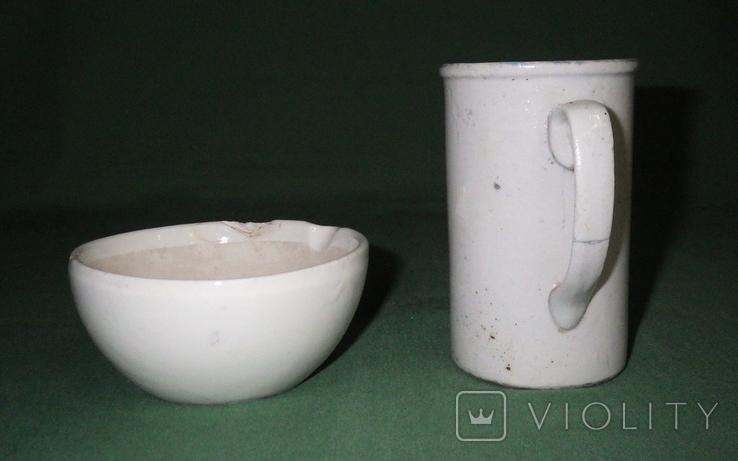 Ступка и кружка фарфоровые, фото №3