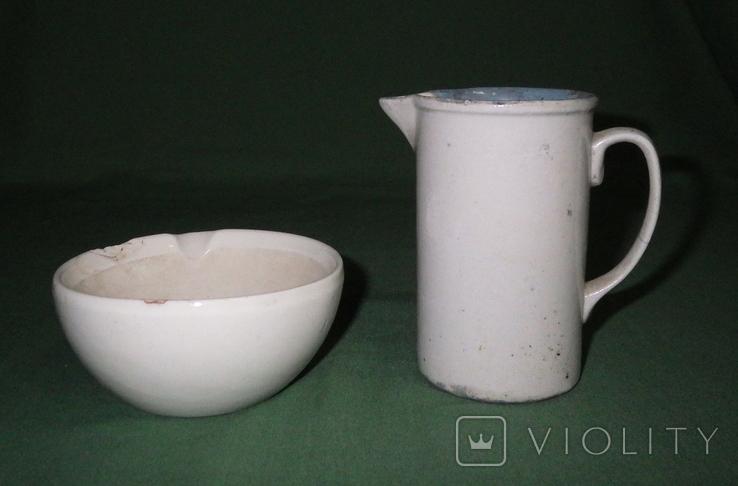 Ступка и кружка фарфоровые, фото №4