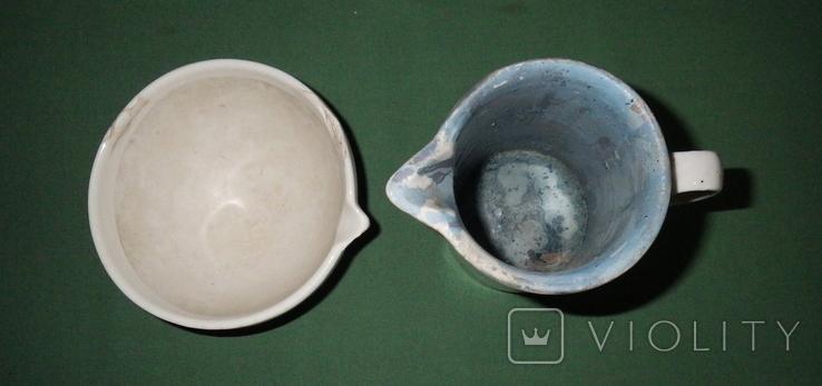 Ступка и кружка фарфоровые, фото №5