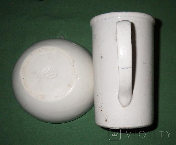 Ступка и кружка фарфоровые, фото №8