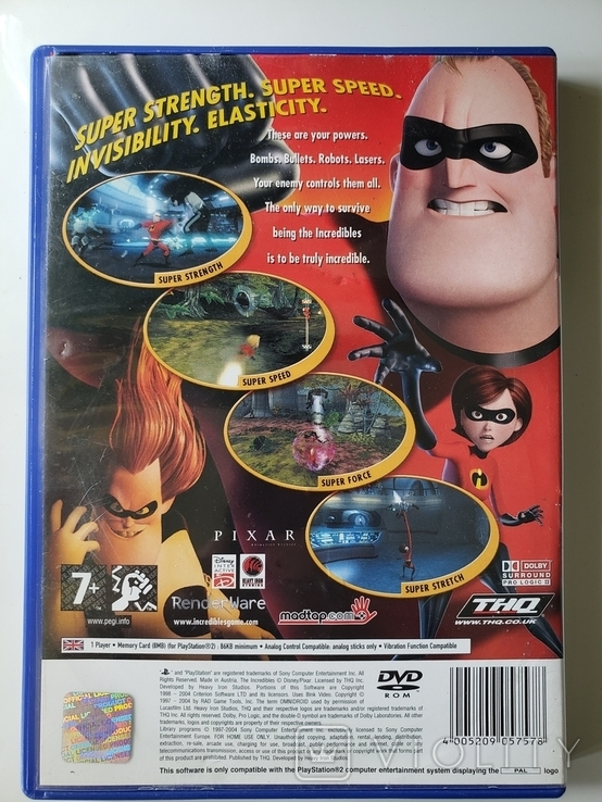 Disney's Pixar - The Incredibles (PAL, PS2), фото №3