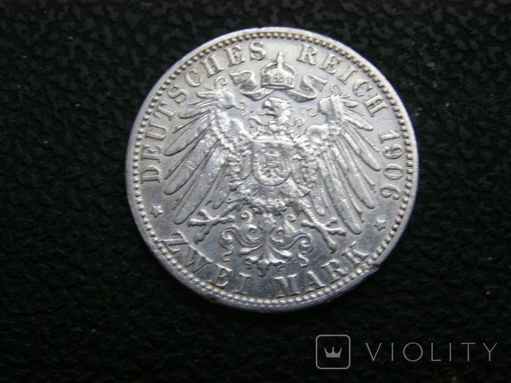 2 марки 1906 D. Бавария. Отто., фото №4